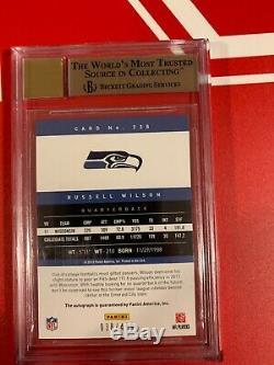 2012 Prestige Russell Wilson Recrue Auto # D / 499 Bgs 9,5 Gem Mint Auto Avec 10