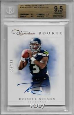 2012 Russell Wilson Prime Signatures Auto Rc- Bgs 9,5 Gem Mint. # 166/199