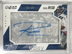 2015 Vision Claire Russell Wilson Auto / 15 Seahawks Ssp
