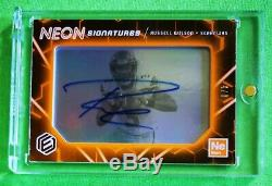 2018 Elements Russell Wilson Neon Signatures Niveau 3 Auto Orange 4/8 Seahawks
