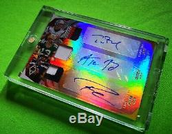 Aaron Rodgers Rodgers Russell Wilson Xr 2018 X3 Patch Triple Auto 2/5 Meilleur Un / 5