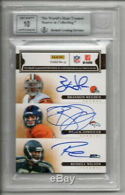 Andrew Luck Russell Wilson Rc Auto Signature 2012 Primes Signature 6x Bgs 9 Neuf