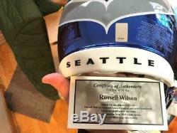 Casque Authentique Authentique En Chrome Vitesse Seattle F / S Seattle Seahawks De Russell Wilson