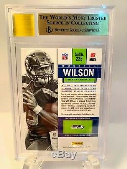 Concurrents Panini 2012 Russell Wilson Auto Rc / 550 Bgs 9,5 Gem Mint Auto 10