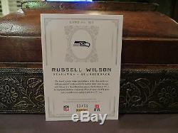Maillot D'autographes Des Trésors Nationaux Recrue De L'auto Russell Wilson 92/99 2012