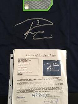 Maillot De Football Autographié Automatiquement Par Russell Wilson Seahawks Sz XL Certifié # 1