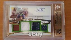 Maillot Russell Wilson Auto Rc 2012 Topps Prime Gold Bgs 9.5 / 10 2/25 Hawks