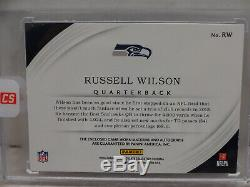 Panini Immaculée 2016 Russell Wilson Seattle Seahawks Patch 3clr Auto # 03/15