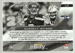 Panini Spectra 2013 Russell Wilson Auto Patch 02/15 Seattle Seahawks