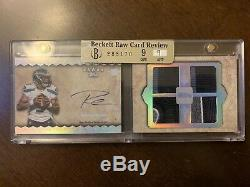 Patchus Russell Wilson Rookie Rc Auto Quad Patch Topbow Five 2012 Rainbow #d 2/5