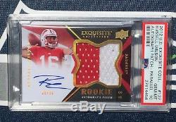 Russell Wilson 2012 Rpa Patch Card Rpa Auto Exquis Or Psa 10 Rpa # / 50 Wow