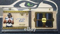 Russell Wilson 2012 Topps Five Star Quatre Pièces Rookie Card Rc Jersey Auto # 11/15