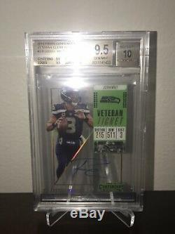 Russell Wilson 2018 Contenders Clear Acétate Auto 3/10 1/1 Jersey Numéro Bgs 9.5