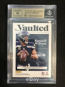 Russell Wilson 2018 Sur Carte Patch Auto / 10! Bgs 9.5 / 10! Chaud! Ssp