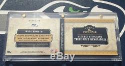 Russell Wilson Carnet Des Autographes Rc Auto Five Star Futures # / 15 Rookie Card 2012