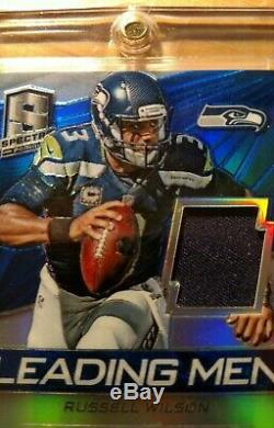 Russell Wilson Maillot Panini Spectra Prizm Patch 2014, Seahawks Auto 5/10