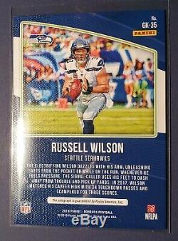 Russell Wilson Qb Seahawks Auto Gridiron Kings 2018 Très Rare! Maillot # 3 3/5