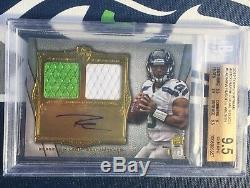Russell Wilson Rookie Auto Carte # 7/15 2012 Relique Double Topps Supreme Bgs 9.5 10