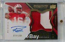 Russell Wilson Rookie Maillot Auto Patch / 50 Rc Rpa 2012 Exquisite
