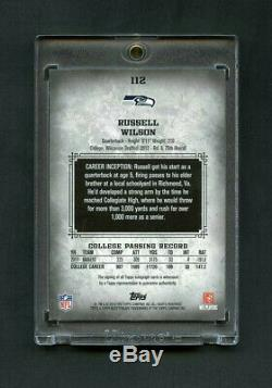 Russell Wilson Topps Inception Rookie Rc 2012 Sur Carte 1/1 Automatique
