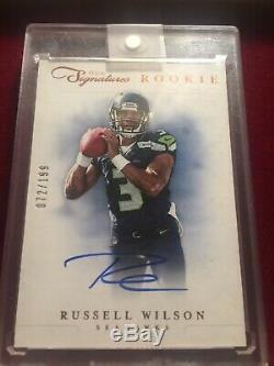 Signature Du Panini Prime 2012 Russell Wilson Recrue Auto Seahawks Sp # / 199 Rc