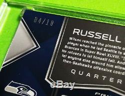 Spectra Russell Wilson 2018 Super Bowl Champion Rose Fluo Parallèle Auto 04/10