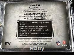Topps Inception 2012 Russell Wilson Rpa Auto Rookie 43/50 Rc