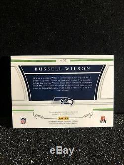 Trésors Nationaux 2016 Russell Wilson Patch NFL Shield Auto 1/1 Seahawks Lire